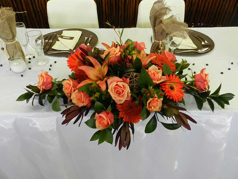 Bridal table – autumn colours