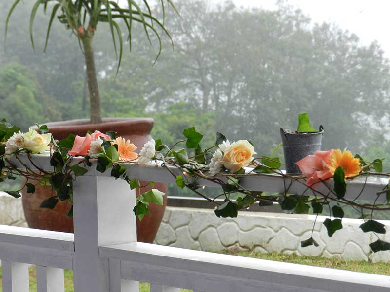 Railing decoration – ceremony