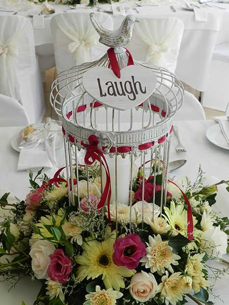Guest table – birdcage